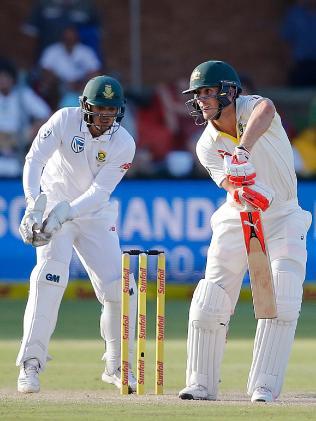 Australia batsman Mitchell Marsh is 39 not out at stumps.