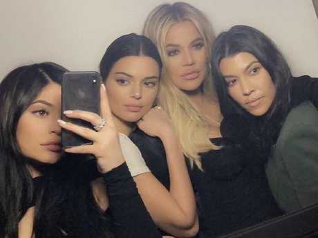 Kylie Jenner, Kendall Jenner, Khloe Kardashian and Kourtney Kardashian at Tristian's birthday party. Picture: Kylie Jenner/Snapchat