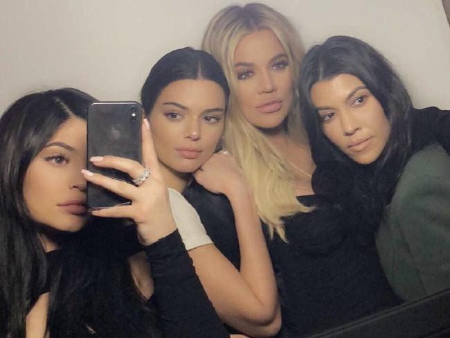 Kylie Jenner, Kendall Jenner, Khloe Kardashian and Kourtney Kardashian at Tristian's birthday party. Picture: Kylie Jenner/Snapchat