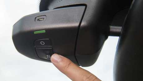 Drivers can turn the camera on or off, or capture the previous 30 seconds at the press of a button. Picture: Supplied.