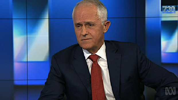 Malcolm Turnbull on the 7.30 report with Leigh Sales.