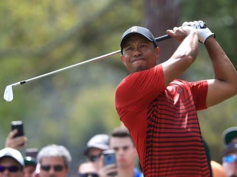 Tiger Woods on his way to a runner-up finish at the Valspar Championship.