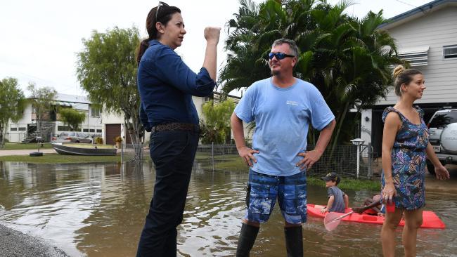 Queensland Premier Annastacia Palaszczuk visited Ingham. Picture: AAP Image/Dan Peled