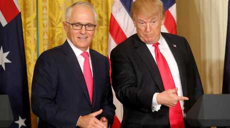 Turnbull said he and US President Donald Trump verbally agreed on Australia's exemption from tariffs on steel and aluminium. Picture: Nathan Edwards