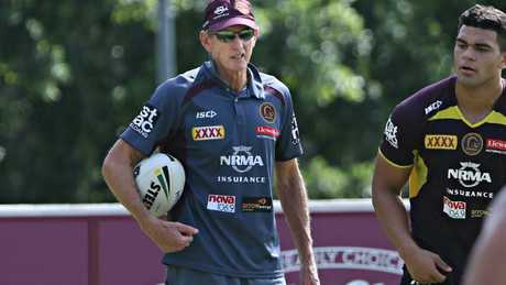 Wayne Bennett keeps a close eye on how his troops are training.