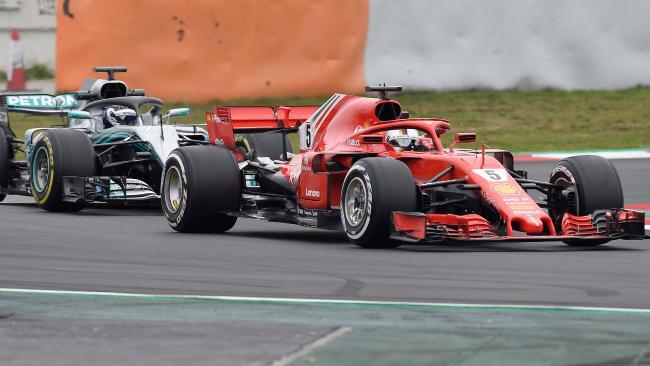 Sebastien Vettel during testing.