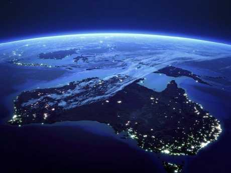 Cities such as Melbourne and Sydney becoming of the scale of global cities like London and Hong Kong. Picture: NASA