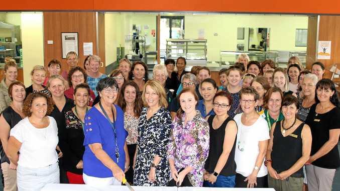 LEADING THE WAY: St Brendan's College staff celebrate International Women's Day.