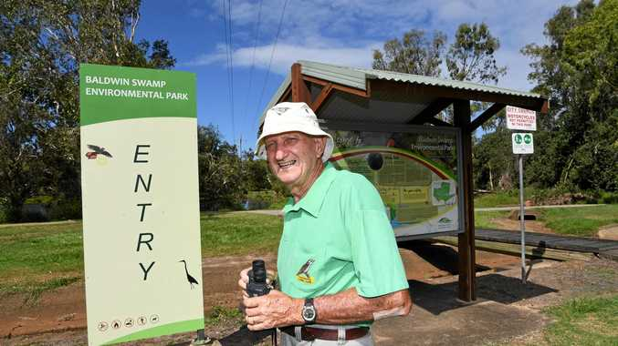 CHANGE COMING: Friends of Baldwin president Don Lynch at the entrance to the Baldwin Swamp Environmental Park.