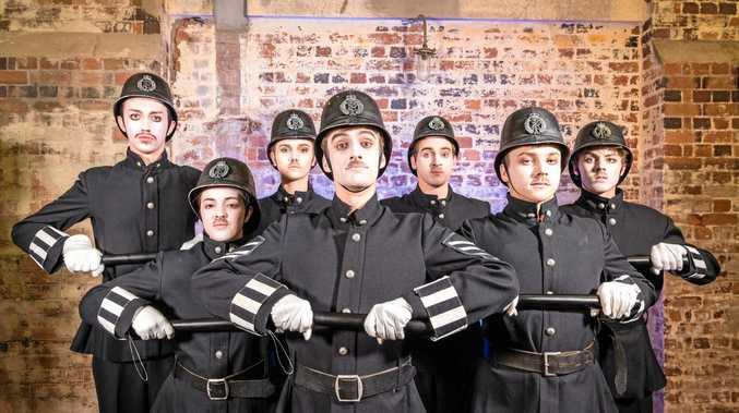 The Pirates of Penzance cast (from left) Jack lee, Sophie McHardy,Ella Coleborn, Philip Jones, Ryan Paroz, Gage Howard- Secombeand Gabe Tiller.