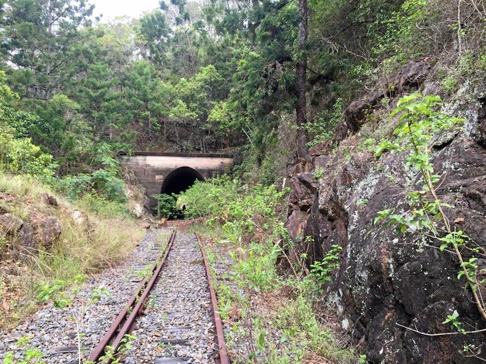 Tunnel entrance on old Many Peaks rail line