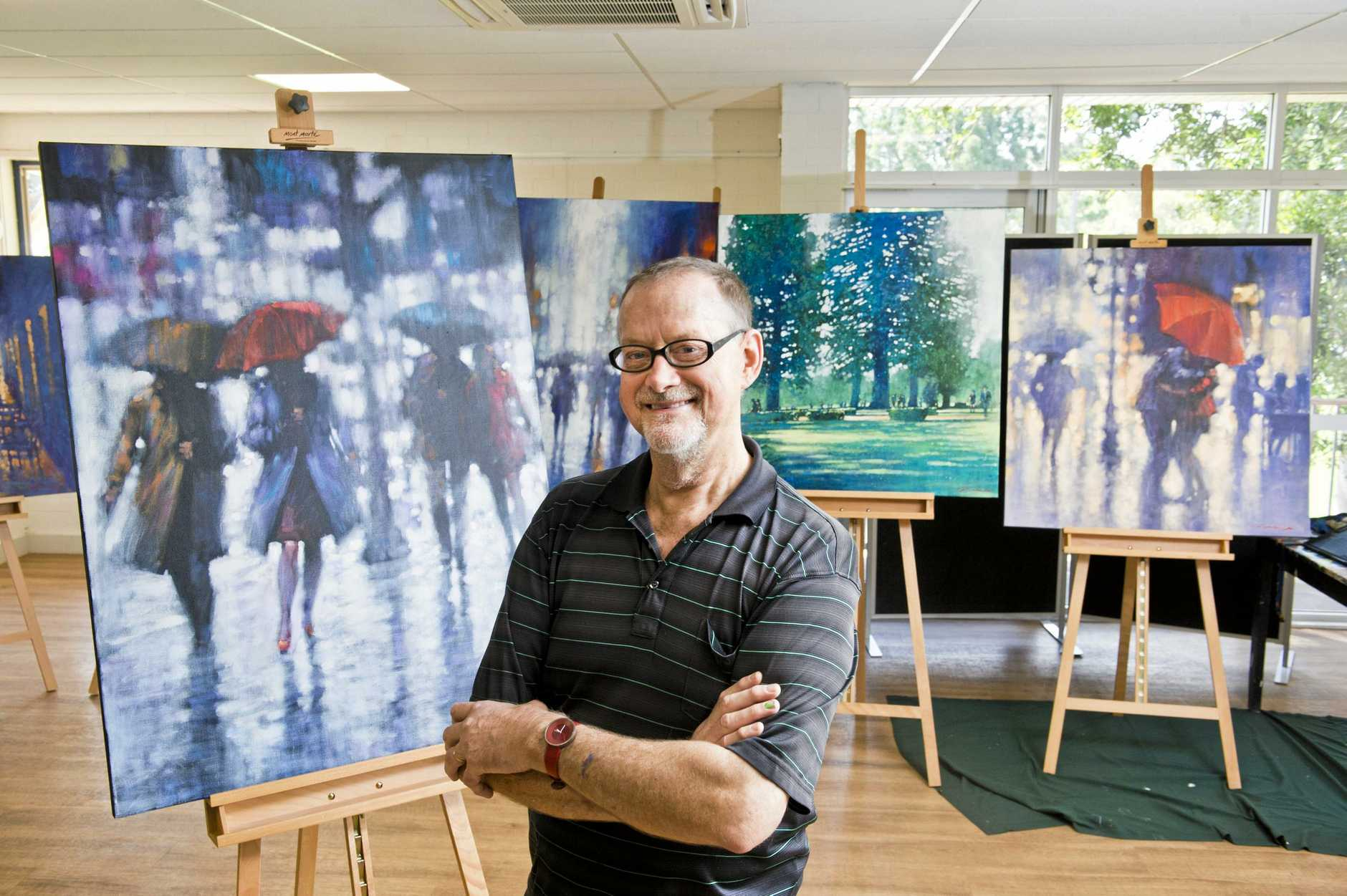 ART SHOW: Brisbane artist David Hinchcliffe is the feature artist for the 2018 Grammar Art Show later this month.