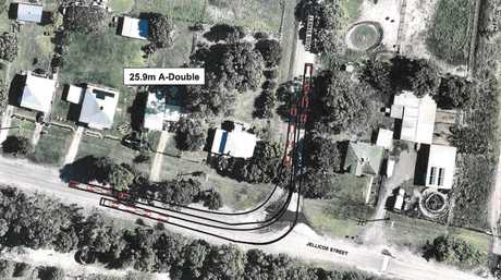 The proposed route for a heavy vehicle haul route in Rockhampton.