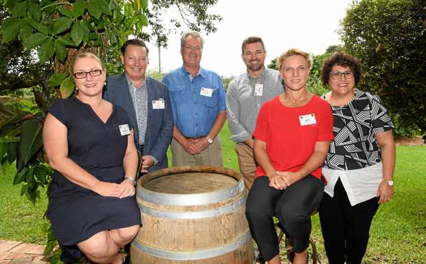 Belinda Hall, Peter Burr, Frank Gyzemyter, Aymon Gow, Kylie Milroy and Rose Wright were seen at Destination Tweed's industry forum which was held at Fins at Plantation House, Duranbah.
