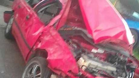 The Nissan Pulsar Kevin Ellis Egretz, 22, crashed in November 2017 which lead to him pleaded guilty in the Rockhampton Magistrates Court on March 13 to many charges.