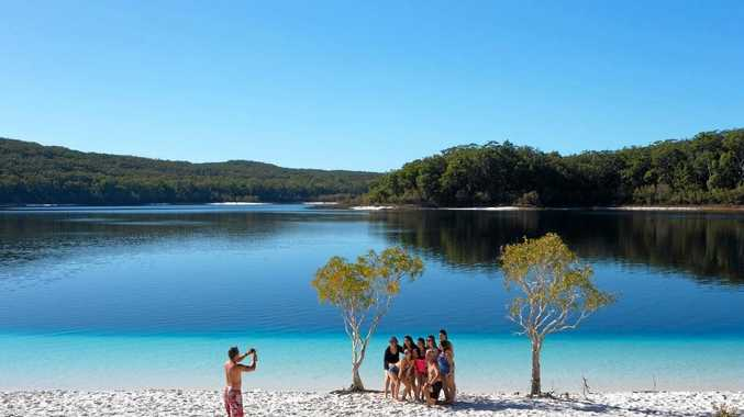VISITOR NUMBERS UP: Fraser Island's beautiful Lake McKenzie is one of our tourism drawcards.