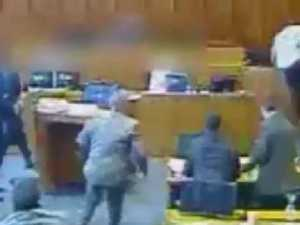 Footage of gang member shot dead in court
