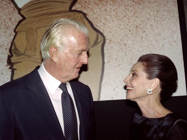 Hubert de Givenchy worked with close friend Audrey Hepburn for 40 years. Picture: AFP/Pierre Guillard