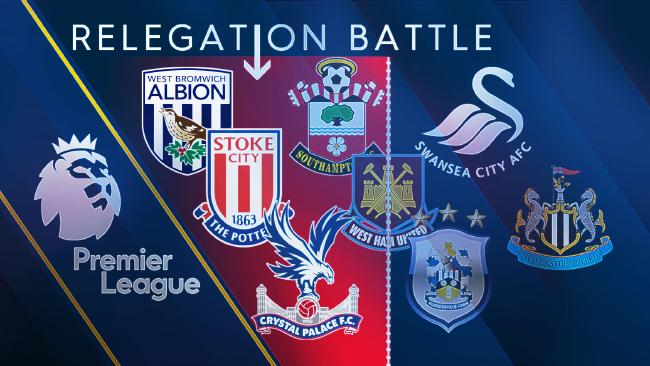 Eight teams are set to battle it out to avoid Premier League relegation