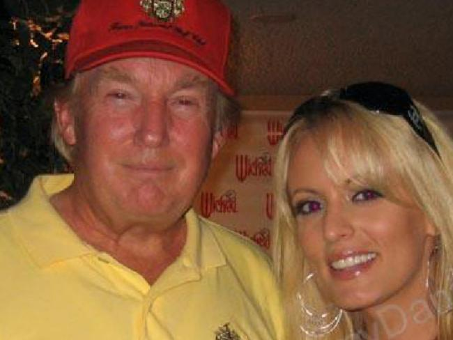 Donald Trump with Stephanie Clifford, whose stage name is Stormy Daniels, in 2006. Picture: Supplied