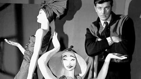 Hubert de Givenchy in his shop in Paris in 1952. Picture: AP