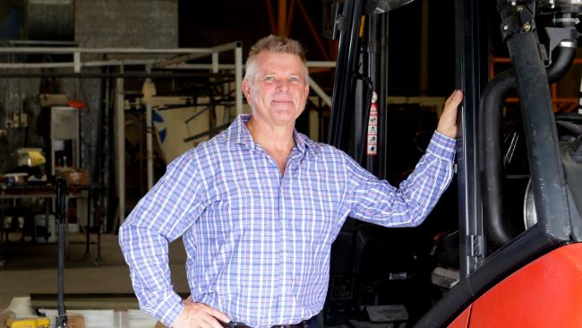 Lance Flugge managing director of Global Powder Coating is looking to hire unskilled and skilled labour in his business. Picture: AAP/Ric Frearson