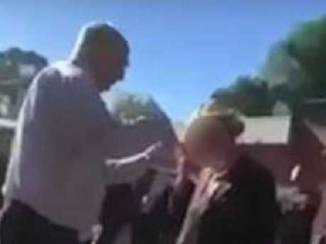Students filmed the moment Trinity Grammar deputy headmaster Rohan Brown cut a student's hair.