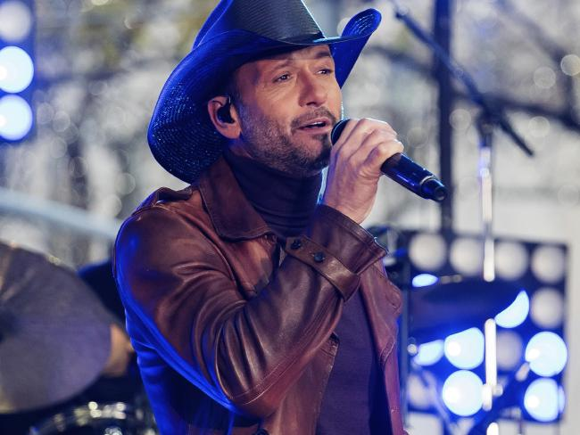 Tim McGraw collapsed onstage in Dublin due to dehydration, according to his wife Faith Hill. Picture: Charles Sykes/Invision/AP