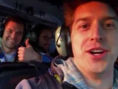 Video taken by the passengers of the helicopter crash in New York City on March 11 that killed all five passengers. Picture: Supplied