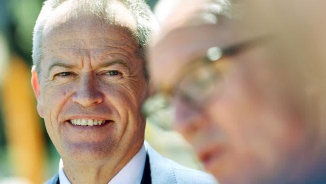 Federal Labor leader Bill Shorten speaks to the media in Adelaide. Picture: AAP/David Mariuz