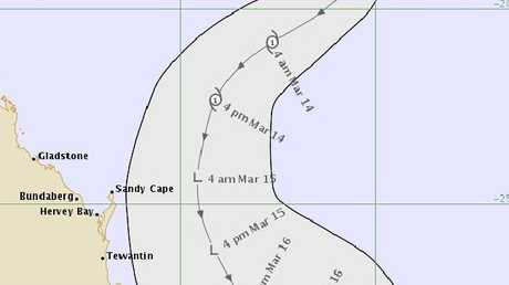 Tropical Cyclone Linda tracking. Picture: BoM