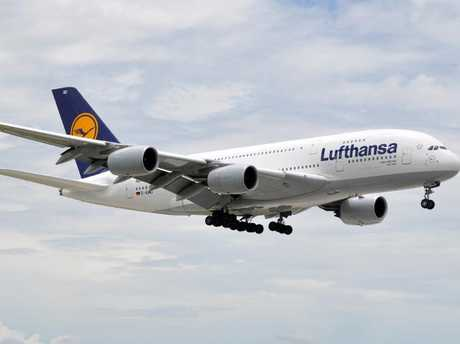 A Lufthansa plane before being repainted. Picture: Eric Salard