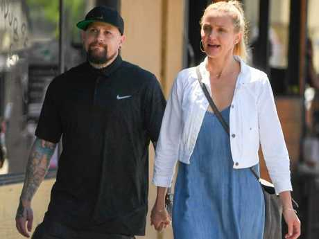 "Cameron Diaz and husband Benji Madden with whom she is ""an equal"". Picture: Splash"