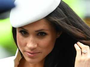 Meghan steps out with Harry, Queen