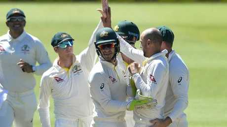 The Aussies took four second-innings wickets but it wasn't enough.