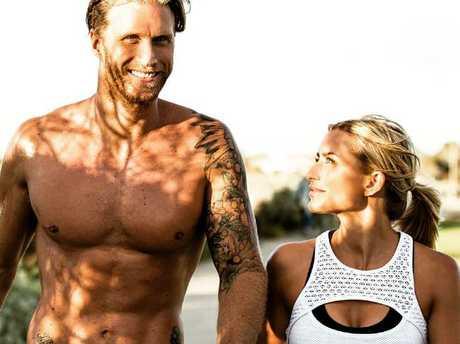 Wilda with her personal trainer husband, Matt.