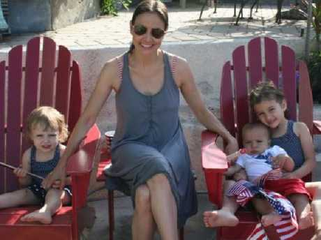 Marina Krim, pictured with her children Nessie, left, Lucia (Lulu) and Leo.
