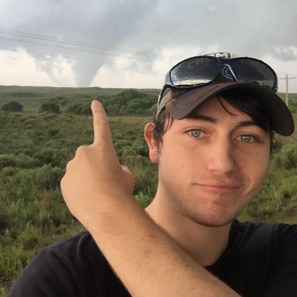 Thomas Hinterdorfer, 'extreme weather chaser'. Photo: Facebook