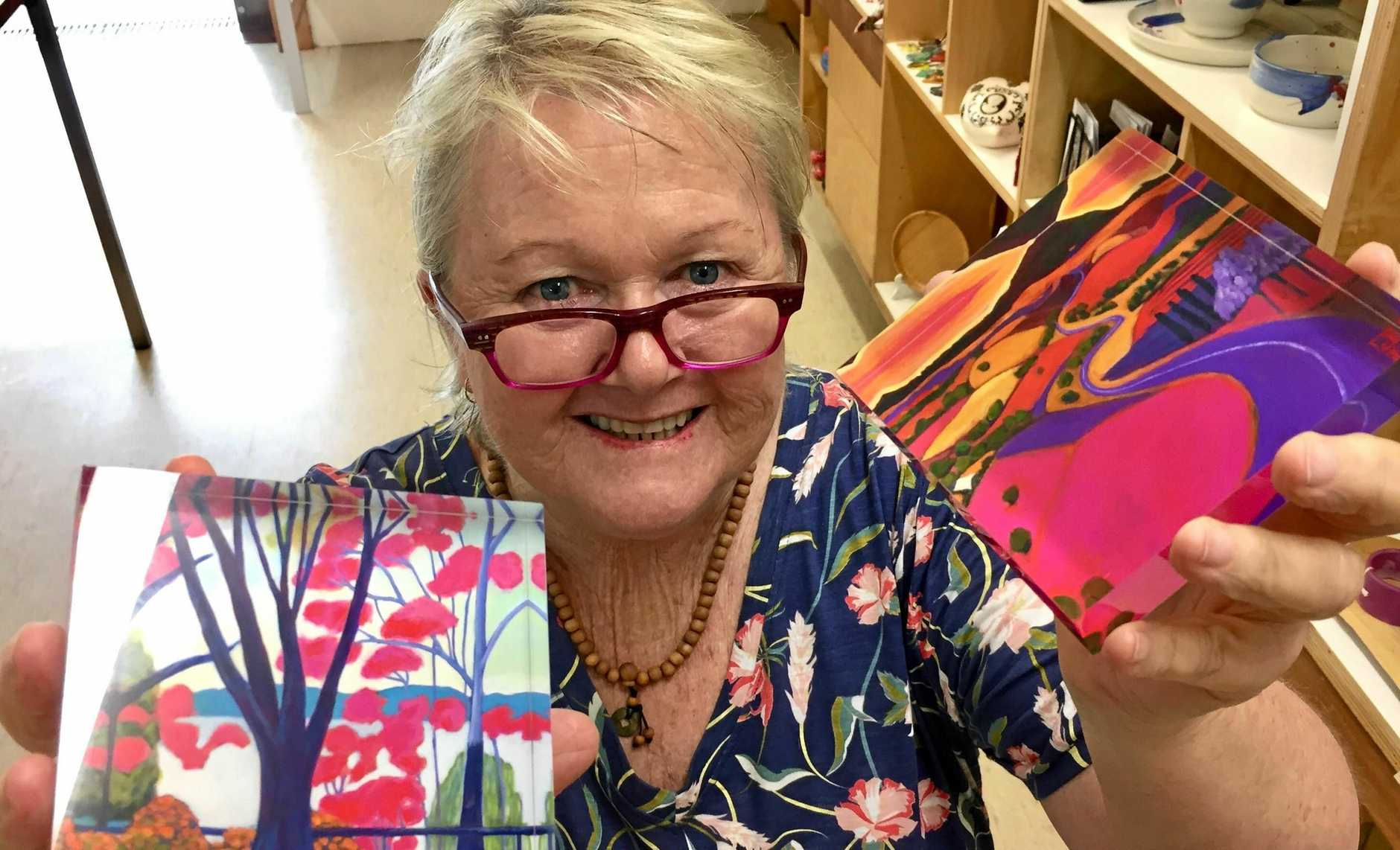 Cooroy artist Dale Leach was commissioned to paint a landscape of the Sunshine Coast for the Mayor's office.