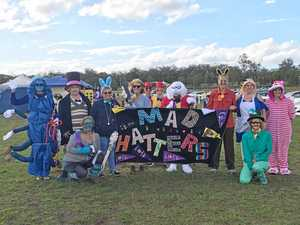 Mad Hatters throw tombola Relay For Life fundraiser