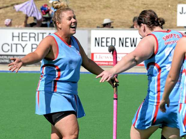 Premiership-winning Swifts player Kirsty Lenagan (left) is injecting enthusiasm into her new role as club president.