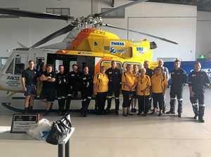 New Rockhampton rescue service hangar off and flying