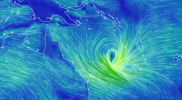 SHE'S HERE: Tropical Cyclone Linda officially formed off the Queensland coast on Tuesday afternoon.