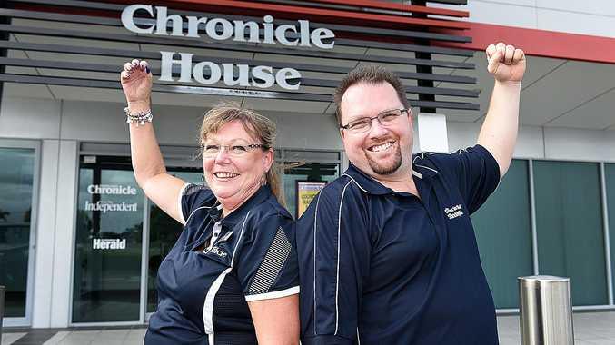 Chronicle staff members Helen Rekdale and Brett Davis heading to the Commonwealth Games as volunteers.