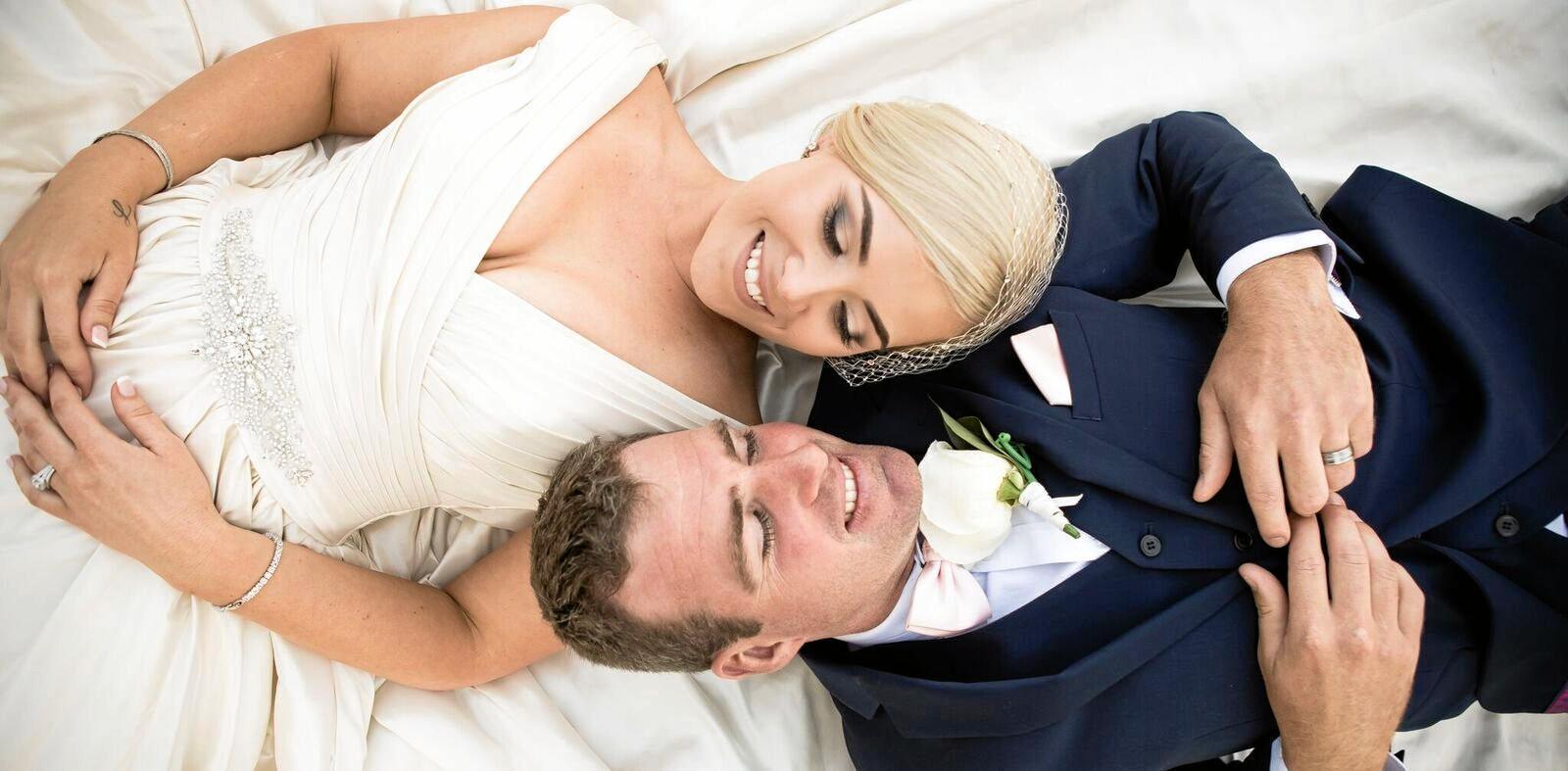 Stephanie and Luke Richardson on their wedding day in September 2017.