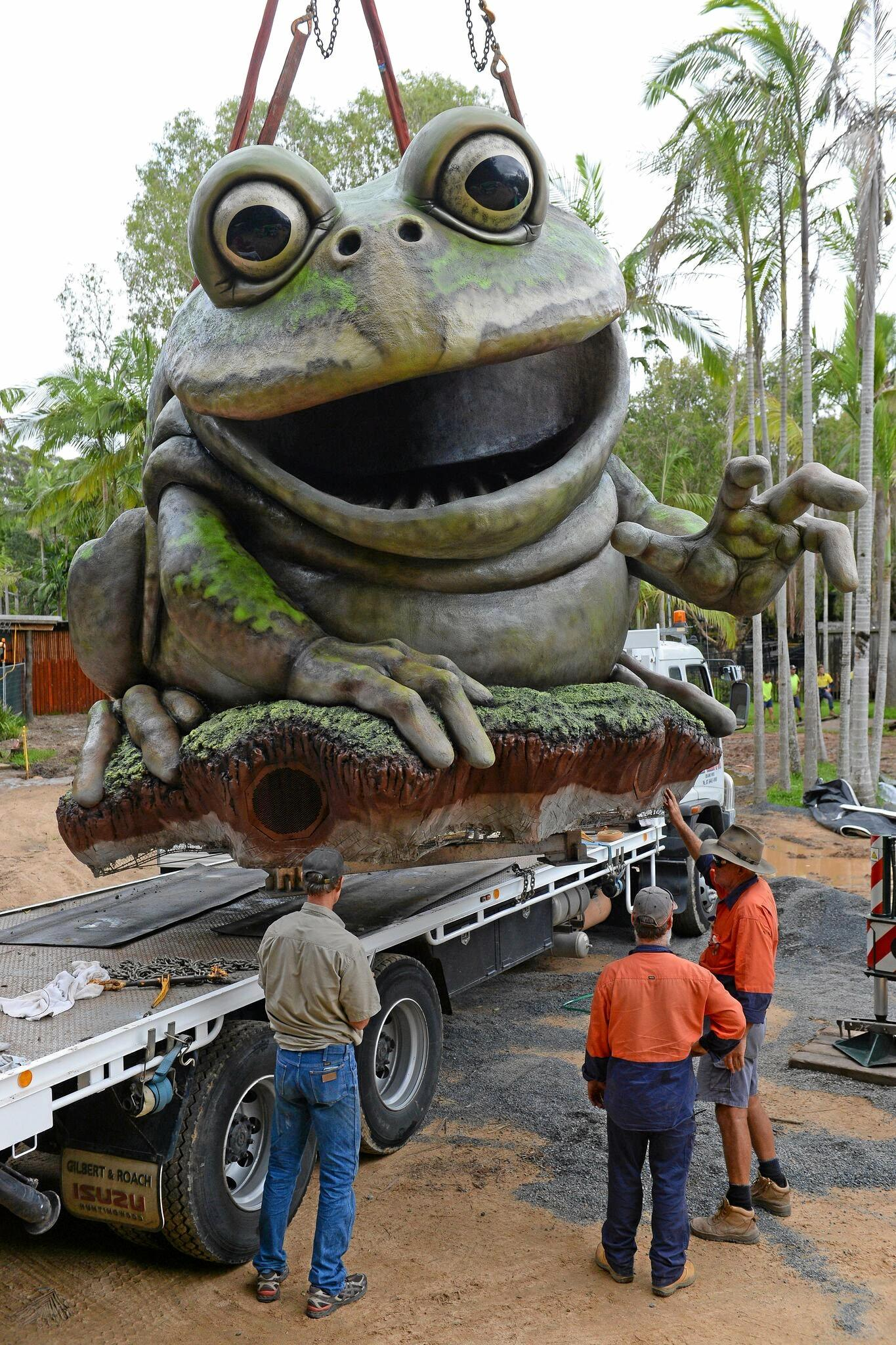 A new water park is being installed at Australia Zoo.