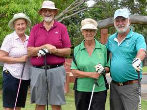 Golfers enjoy a great game at the veterans carnival