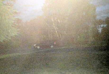 The car fleeing the scene.