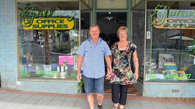 BUSINESS FOR SALE: Gary and Kay Noonan are selling Gateway Office Supplies in Kyogle.