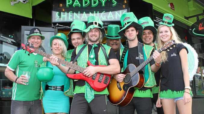 GOING GREEN: Previous St Patrick's Day celebration preparations at Paddy's Shenanigans.